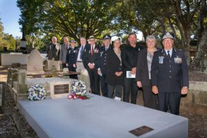 FQPM Members at Henney and Ebbit Grave Dedication