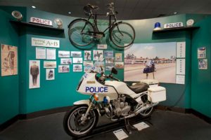 Police transport display